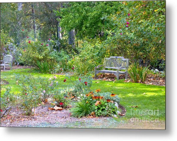 A Quiet Day In The Park Metal Print