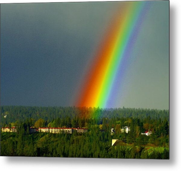 A Rainbow Blessing Spokane Metal Print