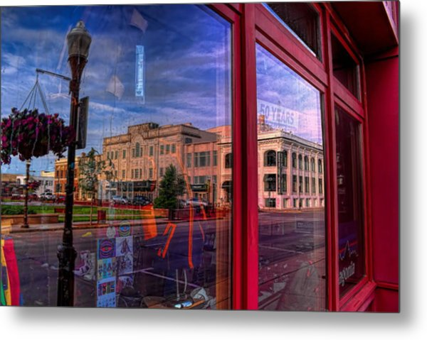 A Reflection Of Wausau's Grand Theater Metal Print