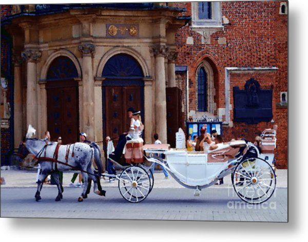 A Ride In Krakow Metal Print by Jacqueline M Lewis