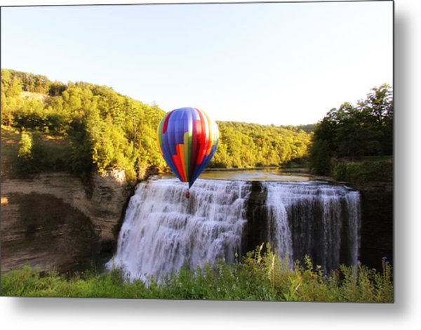 A Ride Over The Falls Metal Print