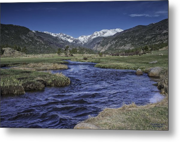 A River Runs Thru It Metal Print by Tom Wilbert