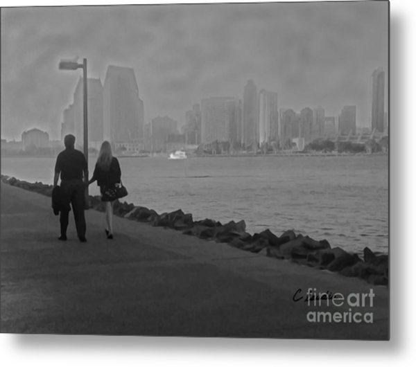A Romantic Walk 2 Metal Print
