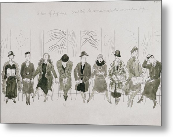 A Row Of Senior Women Metal Print