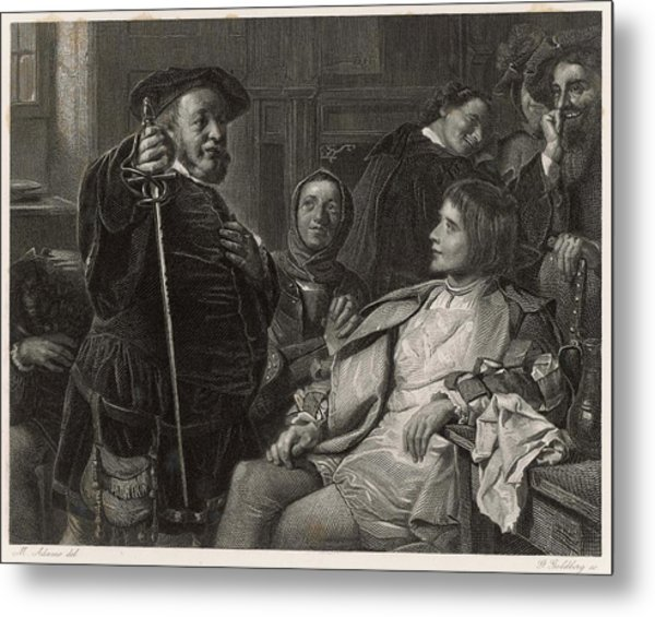 A Scene From Shakespeare's History Metal Print