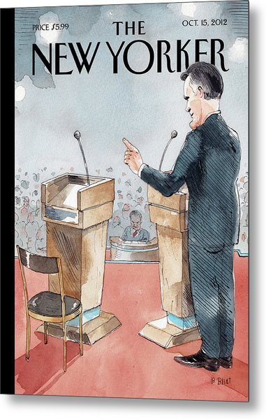 A Scene From The Presidential Debate Metal Print by Barry Blitt