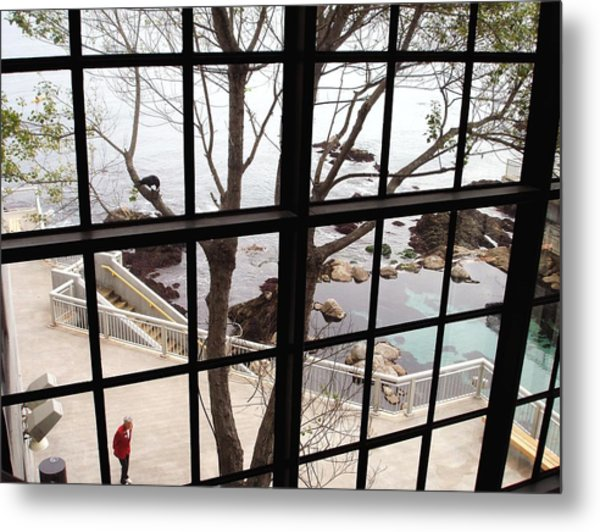 A Scenery Through Windows Metal Print