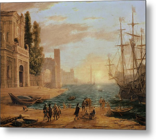 A Seaport, 1639 Metal Print