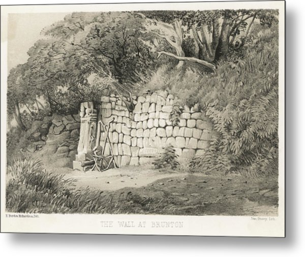 A Section Of Hadrian's Wall At Metal Print