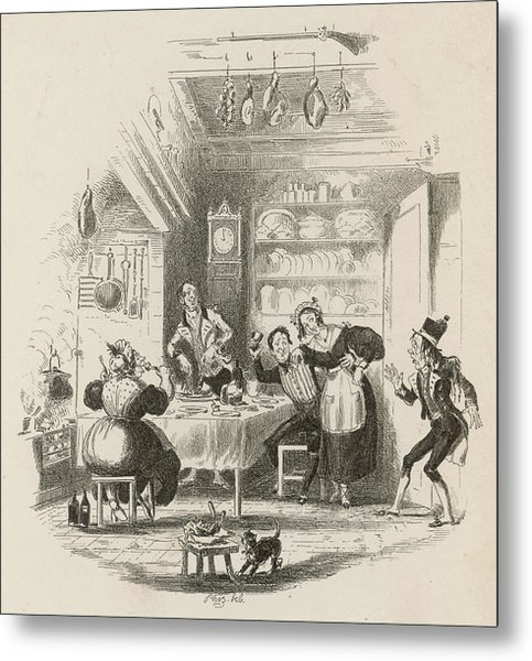 A Servants' Hall At The  Beginning Metal Print by Mary Evans Picture Library