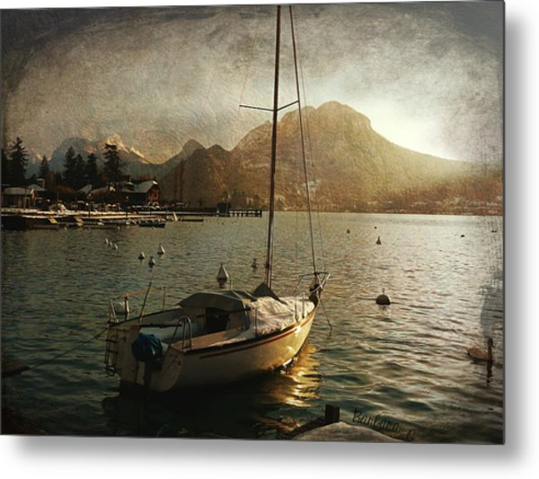 A Ship In Port Metal Print