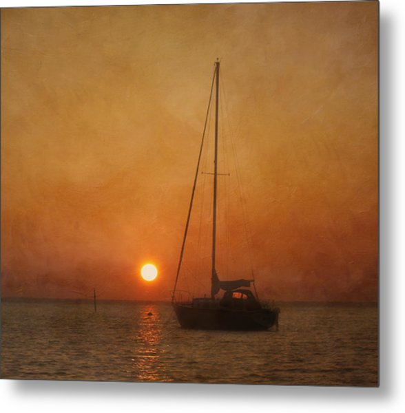 Metal Print featuring the photograph A Ship In The Night by Kim Hojnacki