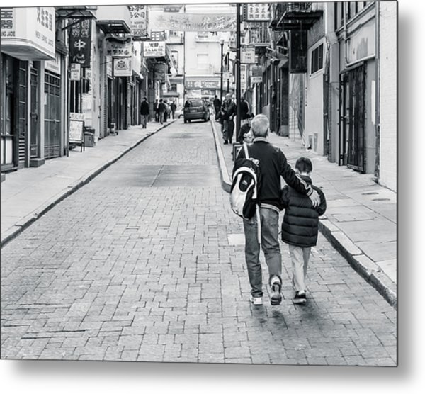 A Side Street In China Town Metal Print by Steve Stanger
