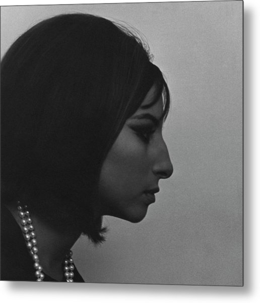A Side View Of Barbra Streisand Metal Print