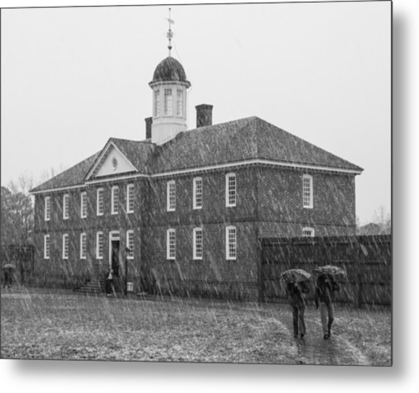 A Snowy Day At The Public Hospital Metal Print