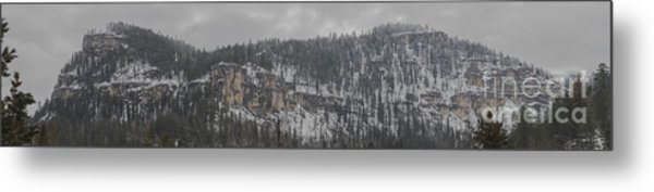 A Snowy Day In Spearfish Canyon Of South Dakota Metal Print