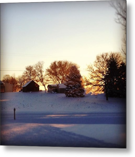 A Snowy Morning Metal Print