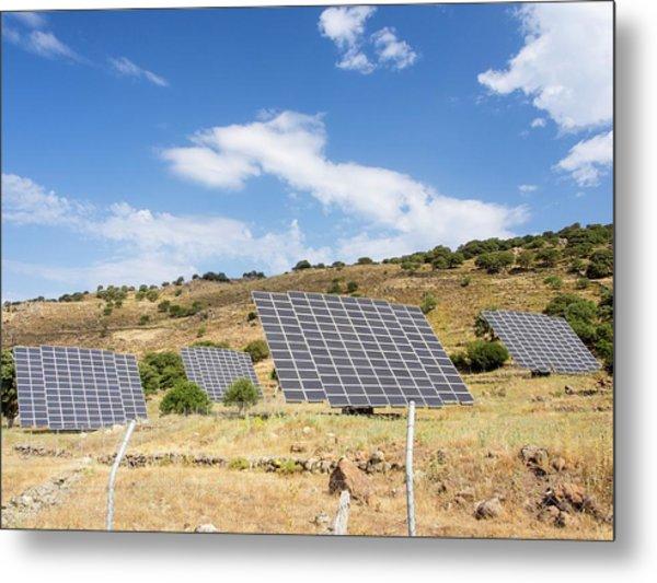 A Solar Power Station On Lesvo Metal Print