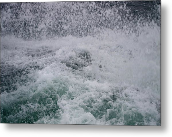 A Splash Of Blue Metal Print by Sheldon Blackwell