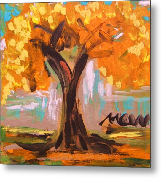A Standout Tree Metal Print by Mary Carol Williams