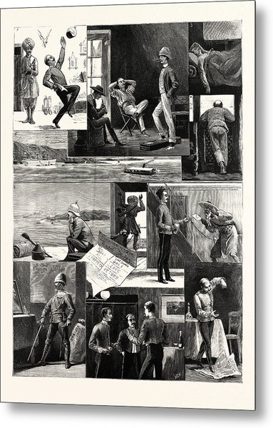 A Subalterns Experiences During The Recent Russian War Metal Print by English School