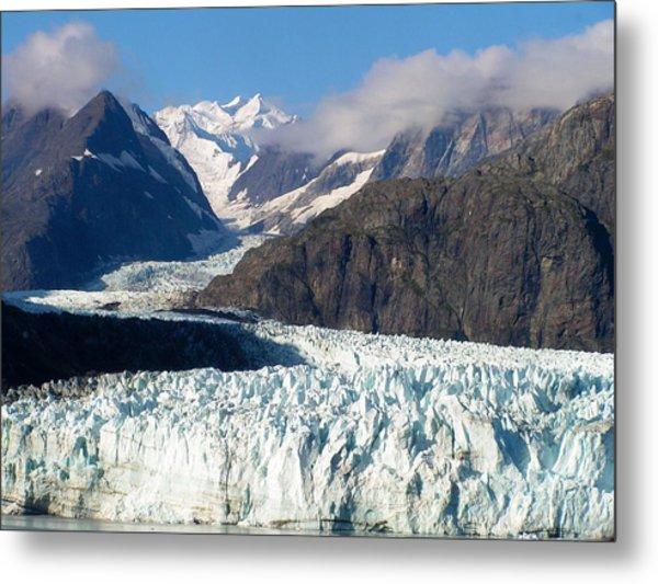 A Sunny Day In Glacier Bay Alaska Metal Print