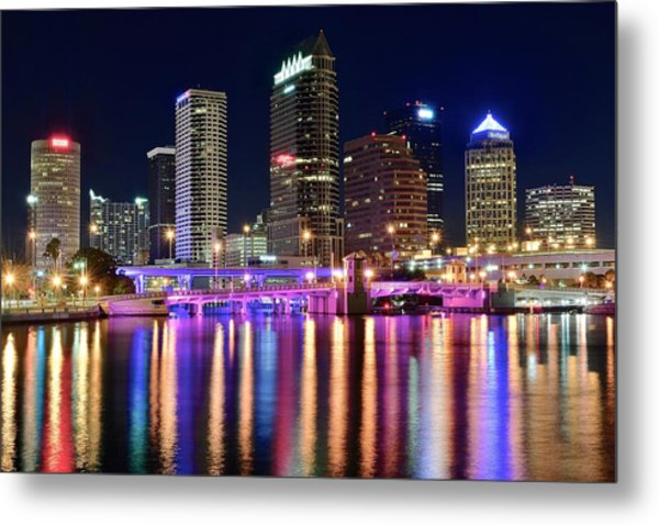 A Tampa Bay Night Metal Print