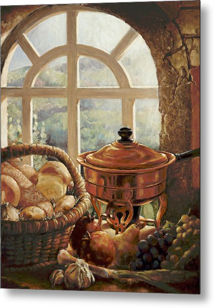 A Taste Of Provence Metal Print by Gini Heywood