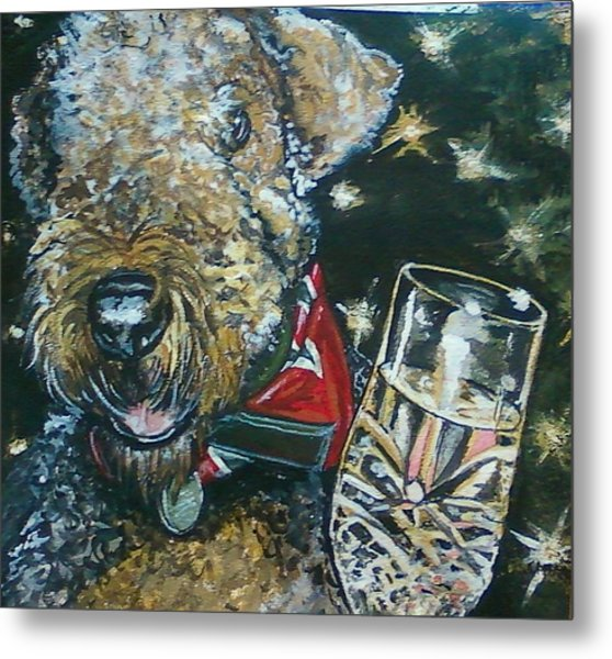 A Toast To Bailey Metal Print