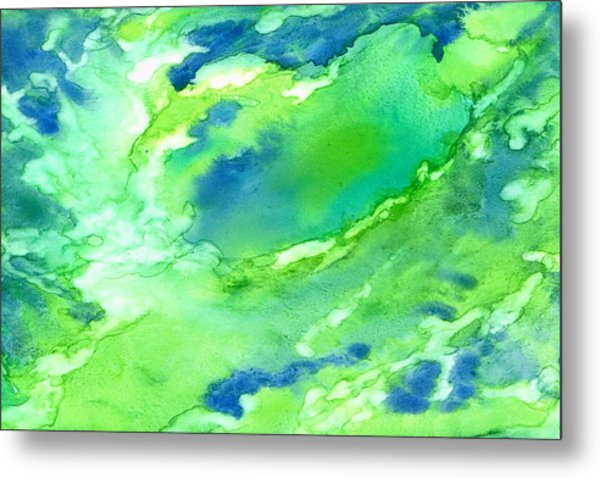 A Touch Of Blue Metal Print by Rosie Brown