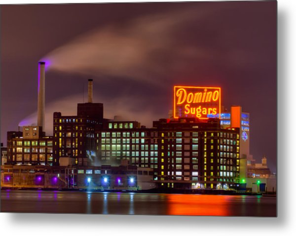 A Touch Of Color With A Wisp Of Smoke Metal Print