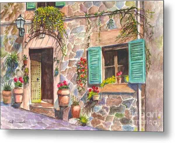A Townhouse In Majorca Spain Metal Print