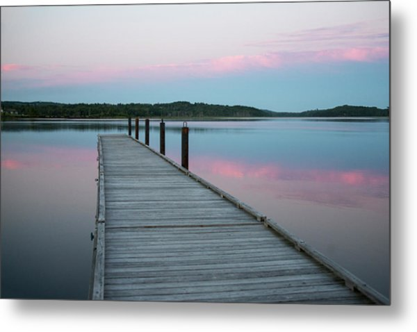 A Tranquil Evening On The Dock Metal Print