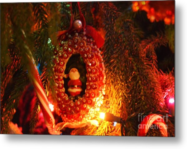 Metal Print featuring the photograph A Treasured Santa by Laurie Lundquist