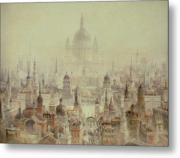 A Tribute To Sir Christopher Wren Metal Print