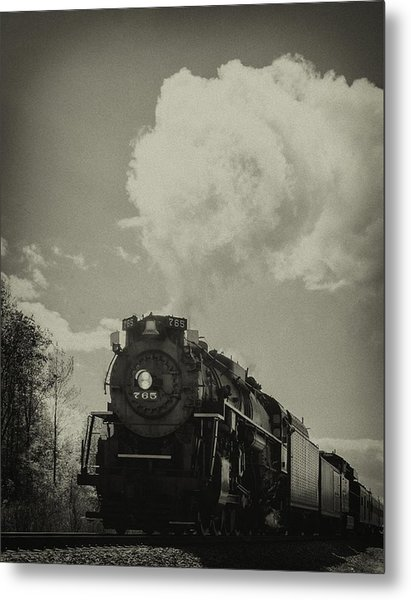 A Trip In The Past-the 765 Steam Locomotive Metal Print