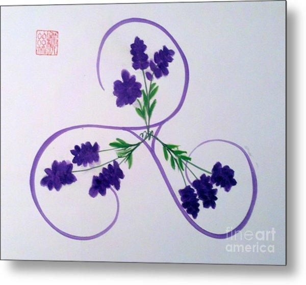 A Triskele Of Lavender Metal Print