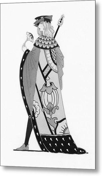 A Tudor Knight Metal Print