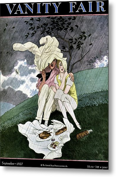 A Vanity Fair Cover Of A Couple Picnicking Metal Print