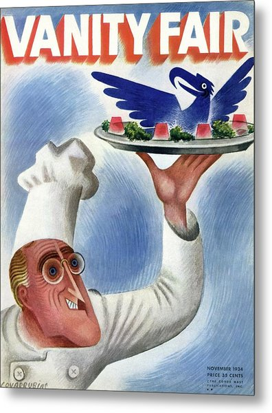 A Vanity Fair Cover Of Roosevelt At Thanksgiving Metal Print by Miguel Covarrubias