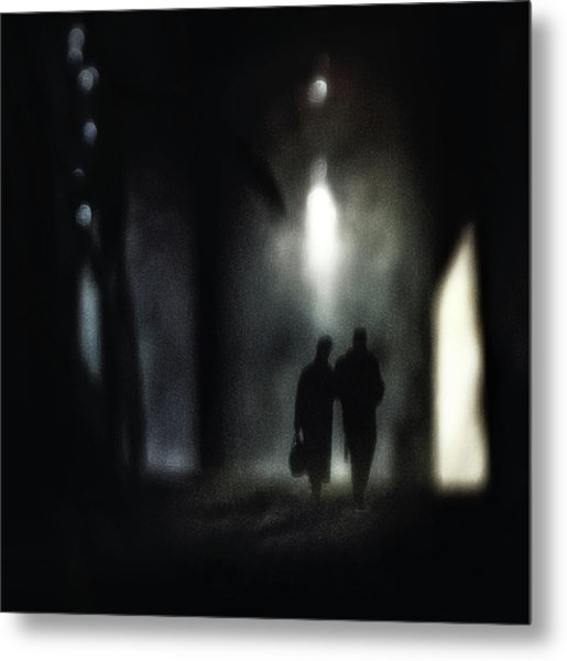 A Very Long Walk Together Metal Print by Piet Flour