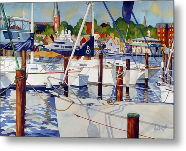 A View From The Pier Metal Print
