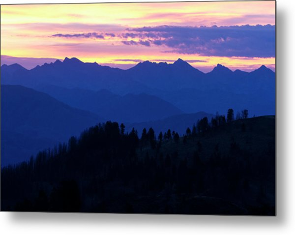A View From The Smokey Mountains Metal Print