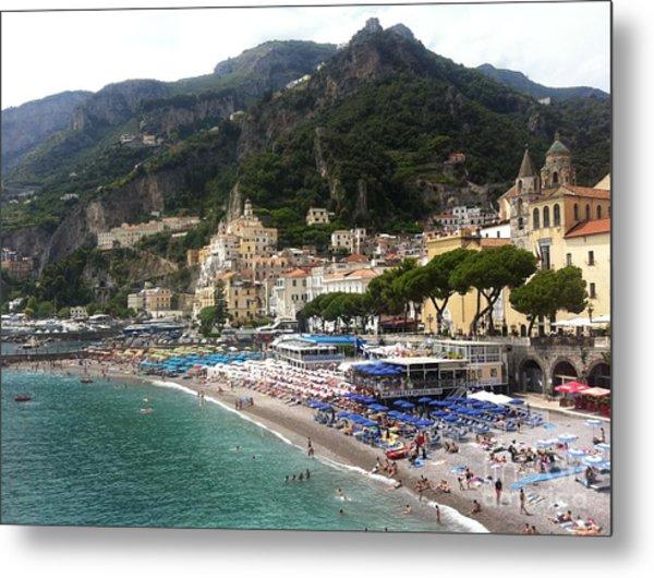 A View Of Amalfi Metal Print by H Hoffman