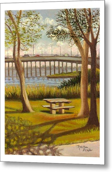 A View Of Crossbay Bridge Metal Print