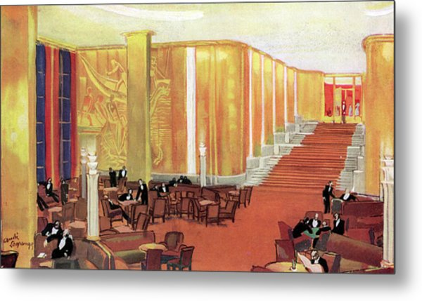 A View Of The Luxurious And Spacious Metal Print by Mary Evans Picture Library