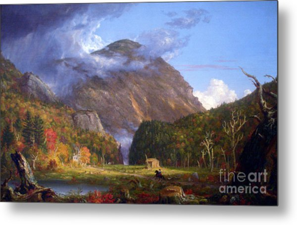 A View Of The Mountain Pass Called The Notch Of The White Mountans By Thomas Cole Metal Print