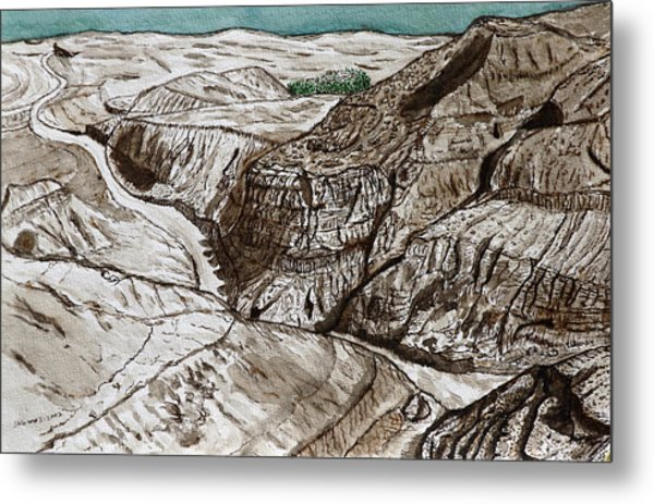 a view to the Dead Sea. Metal Print