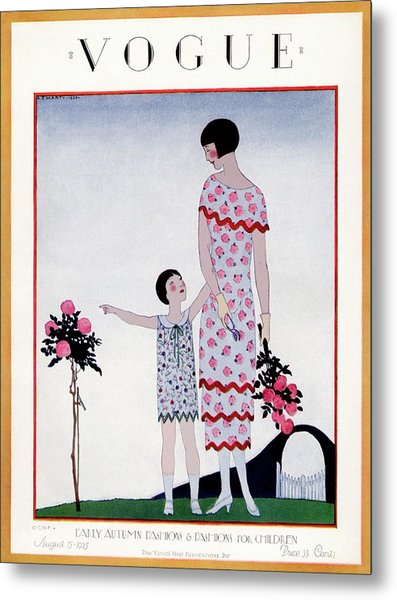 A Vintage Vogue Magazine Cover Of A Child Metal Print