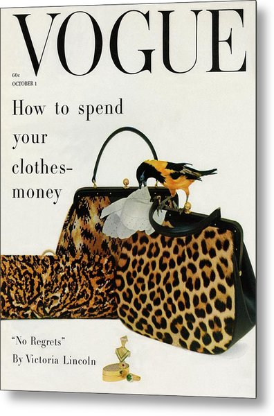 A Vogue Cover Of Nettie Rosenstein Handbags Metal Print